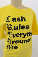'CASH' Graphic Boyfriend Top