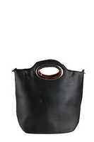Small Oval Handle Wavy Toe Bag