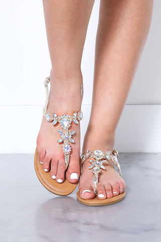 Diamond Detail Thong Sandal