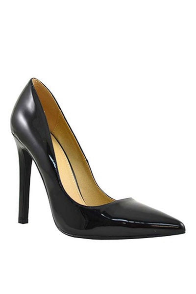 Pointed Toe Patent Pump