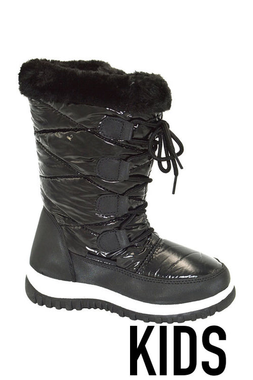 KIDS Snow Boot with Fur Top