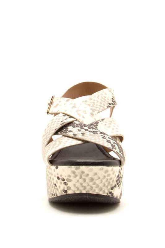 Strappy Snake Wedge Sandal