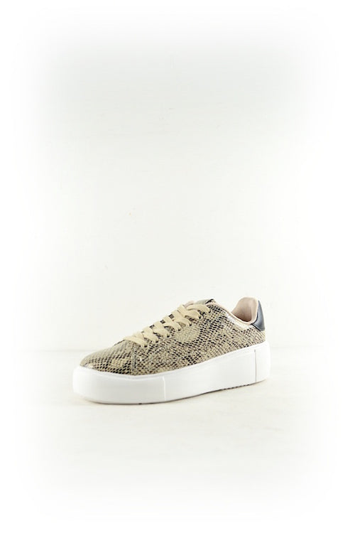 Lace Up Platform Snake Sneaker