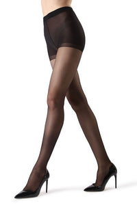 Back Seam Sheer Control Top Pantyhose