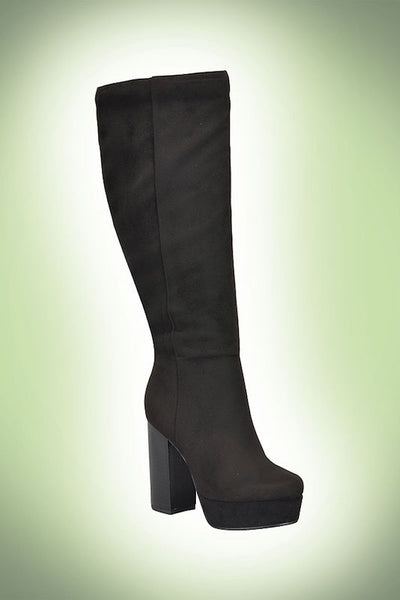 Knee High Thick Heel Boot