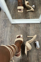 Square Toe Wrap Up Sandal With Heels