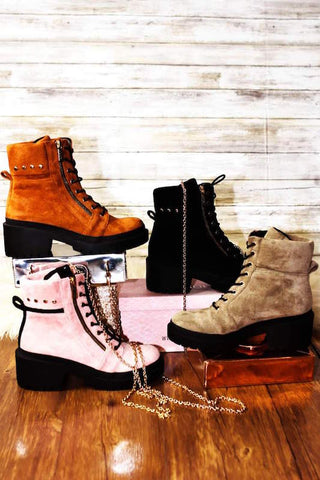 Chunky Platform Lace Up Combat Boot