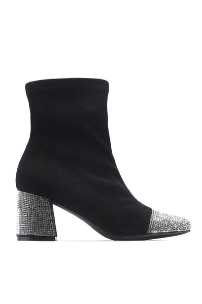 Bootie with Rhinestones Heel and Tip