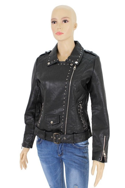 PU Jacket with Studs