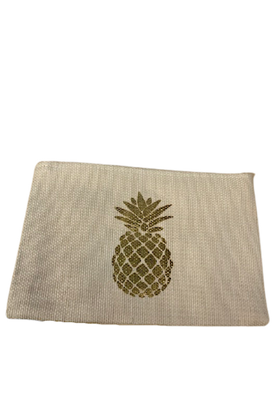 Straw Clutch-Pineapple