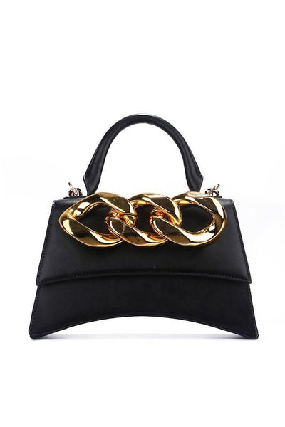 Handbag with Big Chain Detail