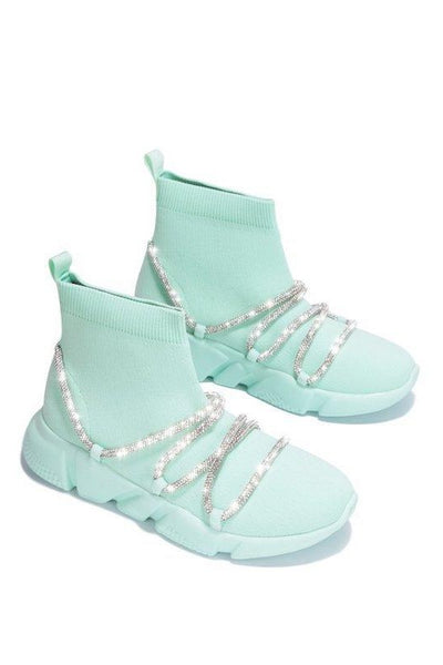 Sneaker Bootie with Rhinestone
