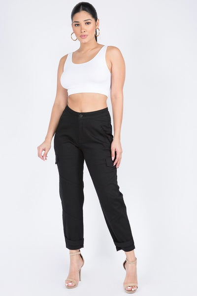 High Waist Slouchy Cargo Pants