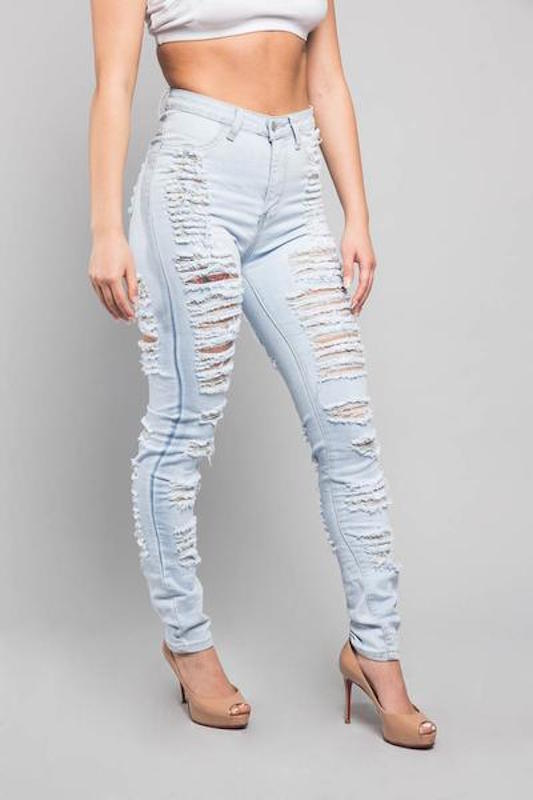 Fully Destroyed Denim Jean