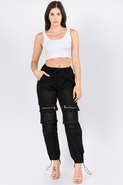 High Waist Jogger with Utility Pockets