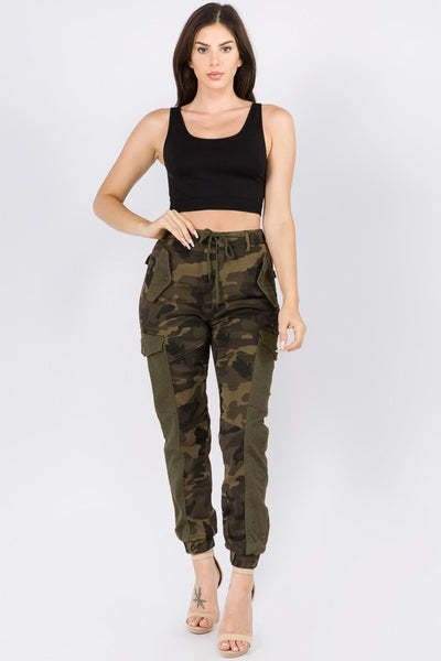 Trim Cargo Joggers with Drawstrings