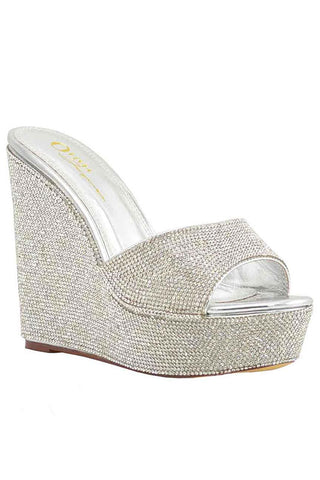 Rhinestone Wedge Heel