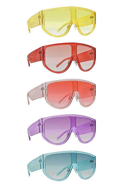 Oval Color Lens Sunglasses
