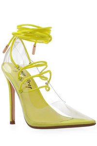 Clear Lace Up Heel