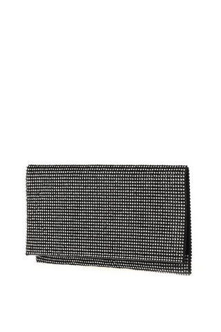 Folded Rhinestone Clutch