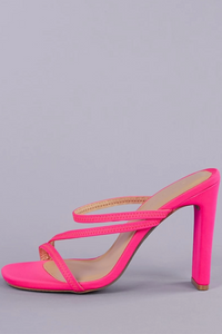 Strappy Neon Sandal with Heel