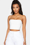 Clear Strap Crop Top
