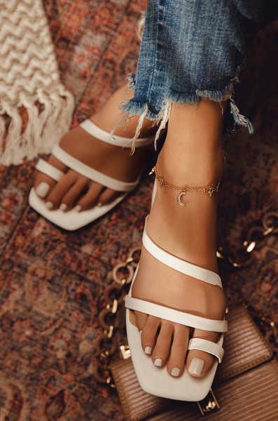 Multi Strap Square Toe Sandals