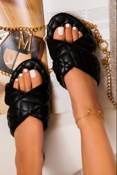 Quilted Criss Cross Sandal