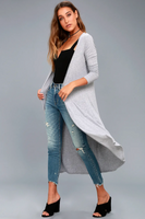 Straight Ribbed Duster Cardigan