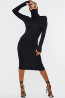 Long Sleeve Dress with Attached Face Shield