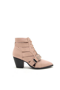 Strappy Lace Up Bootie