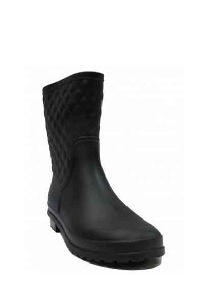 Quilted Mid Calf Rain Boots
