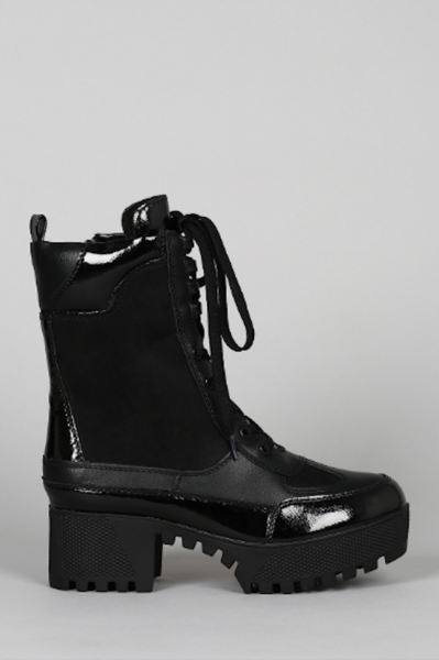 Lace Up Boot On Platform