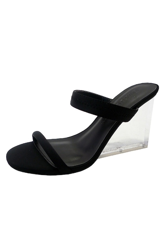 Two Band Clear Heel