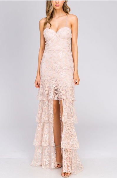 Lace High Low Gown