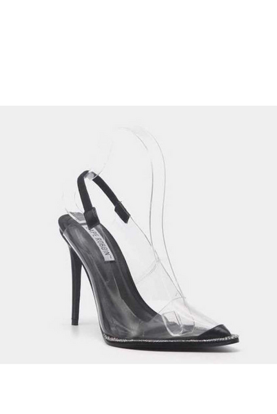 Clear Pointed Toe Slingback
