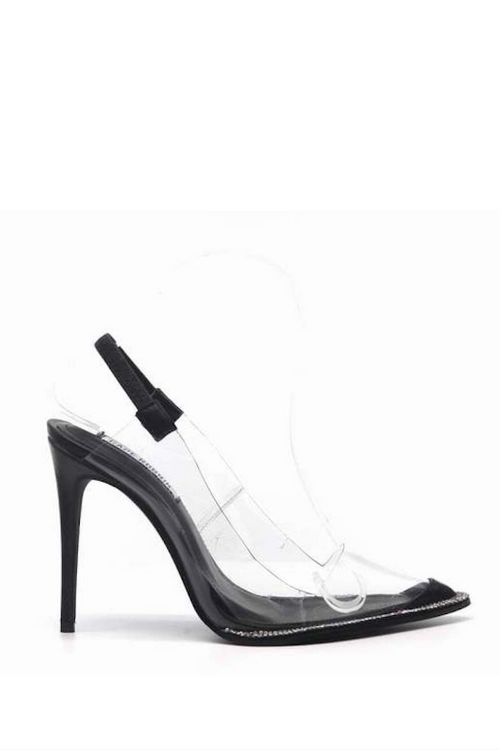 Clear Pointed Toe Slingback Heel