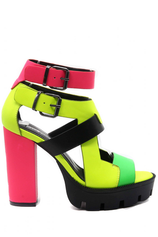 Strappy Thick Heel
