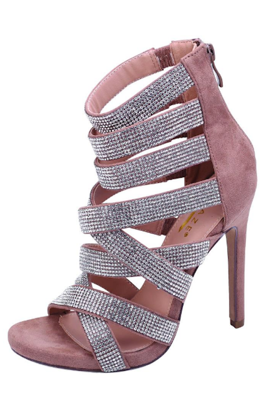 Cross it Out Rhinestone Heel