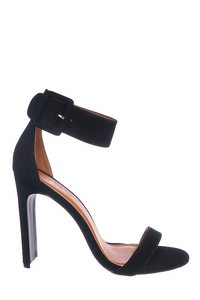 Thick Ankle Strap Black Heel
