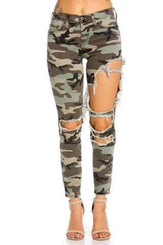 Destroyed Camo Jean