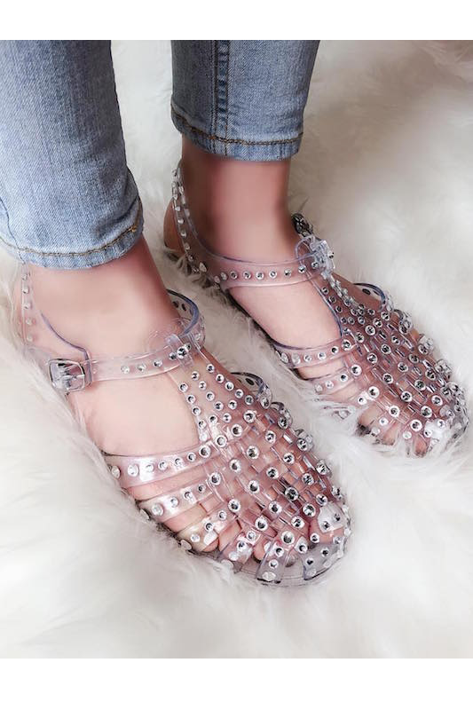Studded Jelly Sandal