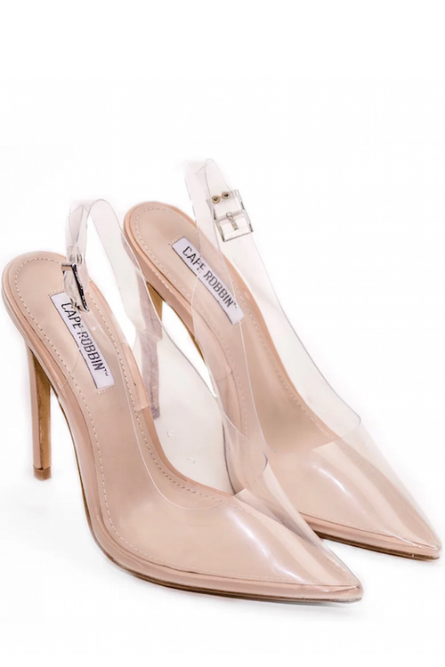 Pointy Clear Heel