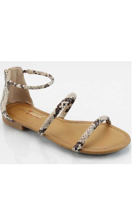 Two Band Ankle Strap Sandal