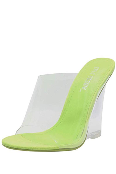 One Band Clear Wedge Heel