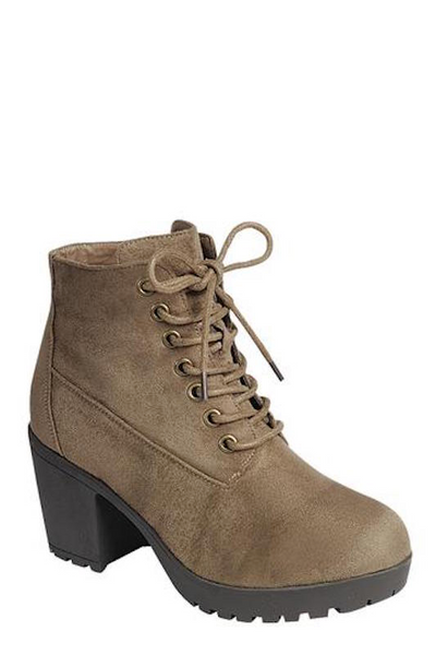 Lace up Thick Sole Bootie