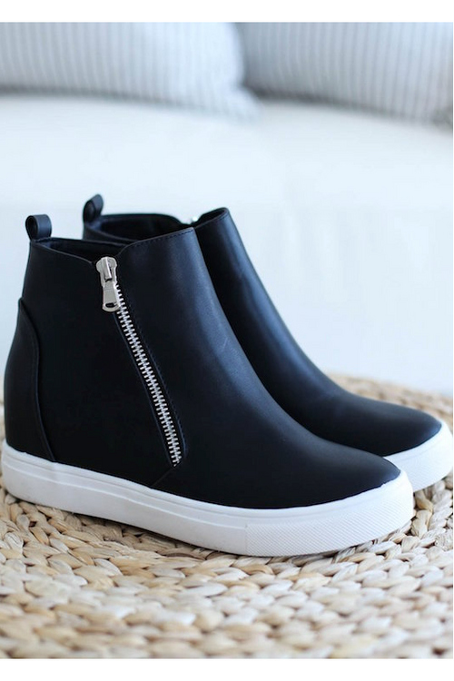 Zip Up Ankle Sneaker