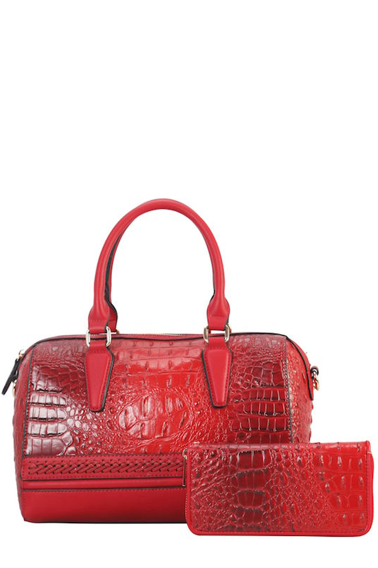 Crocodile Print Handbag