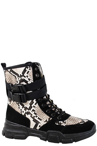 Snake Combat Lace Up Boot
