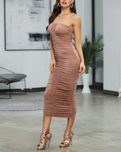 Ruched Tube Dress